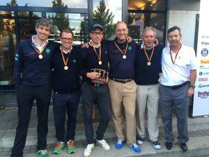stehend von links: Christian Reimbold, David Smolin (Kapitän), Jörg Nastelski, Dr. Christoph Osing, Christian Sommer, Ingo Rieke, Ersatzspieler Dr. Olaf Huth (nicht anwesend)
