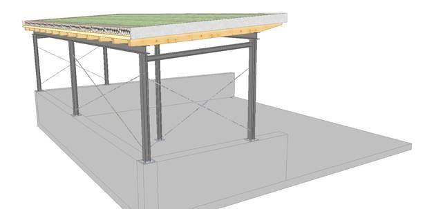Abb. 3: geplantes Gründach über dem Tankbereich