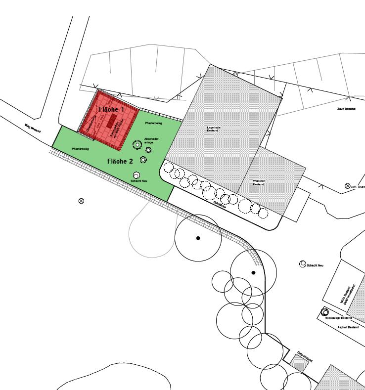 Abb. 1: Plan Neubau Wasch- und Betankungsplatz