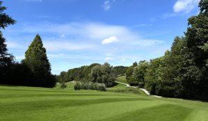 Ausblick auf die Golfanlage des Golf Club Düsseldorf Hubbelrath