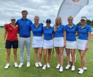 Sophie Witt, Trainer Chris Webers, Maybritt Streit, Lena Hassert, Milla Sagel, Katharina Rzepucha-Hlubek, Samantha Krug