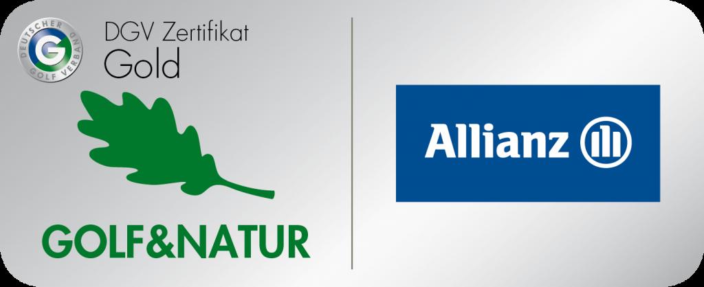 DGV Zertifikat Gold Golf & Natur Allianz