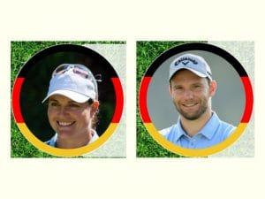 Hubbelrather Max Kieffer und Caroline Masson im olympischen Golfturnier